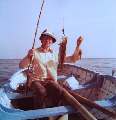 An early picture of Ashley Hayden fishing the ridge off Greystones, Co. Wicklow.
