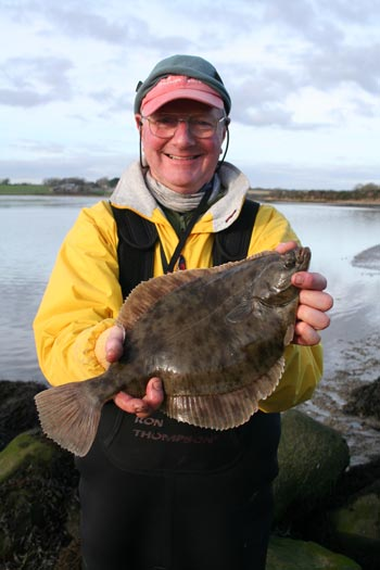 David Gray with Flounder