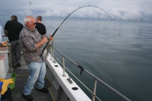 Mr. Sea Angling, Norman Dunlop, playing a Kilmore Quay Tope