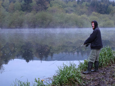 Dave Shad fishing at St. Mullins