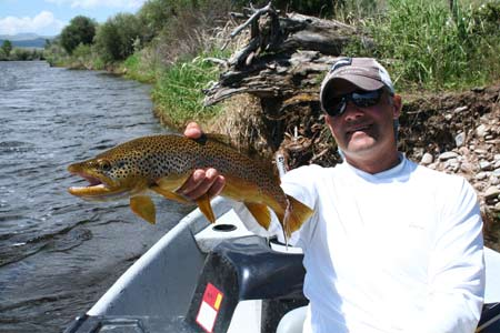 Angling Guide Greg Bricker on the Big Hole River