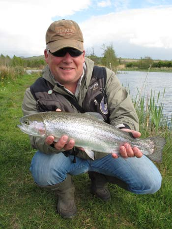 Mark Corps, Game Angling Advisor CFB, with a perfectly formed Rathcon Rainbow
