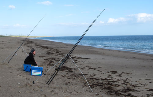 Waiting for a bite, South Wexford surf casting