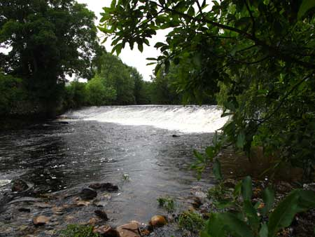 The weir above the bridge at Aughrim, Co. Wicklow