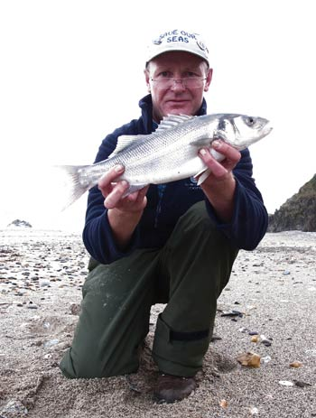 School bass from a County Wicklow beach