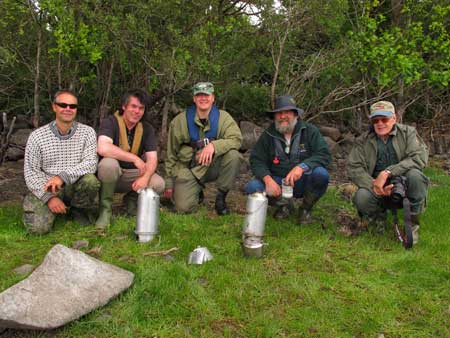 Happy anglers on a Roundwood, Co. Wicklow shore.