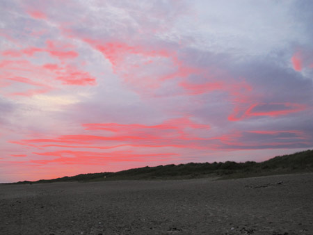 Sunset, Rostoonstown Strand, Co. Wexford.