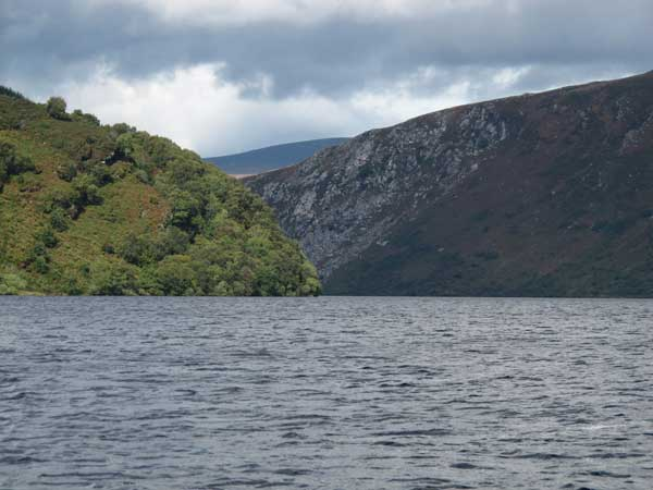 Lough Dan, Co. Wicklow, looking north towards the Cloghoge river valley.