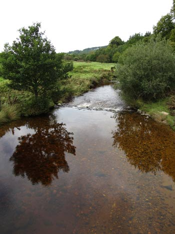 River Slaney looking downstream from Seskin bridge, Glen of Imaal, Co. Wicklow.