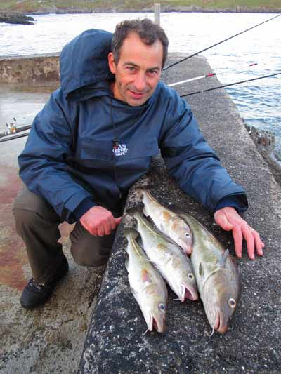 Roger Ball with a fine catch of Beara Peninsula codling.