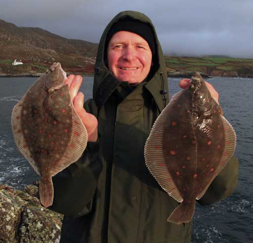 Double header plaice, a rare catch in modern times.