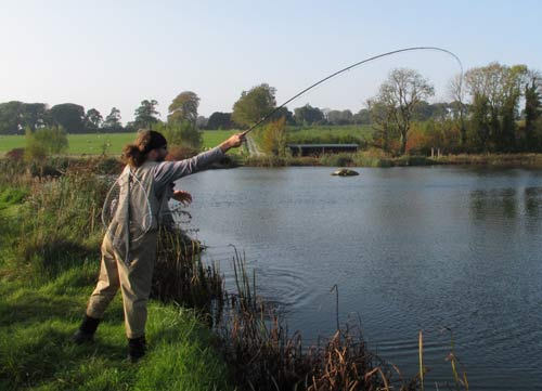 Running hard and deep, Rathcon Trout Fishery.
