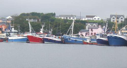 Trawlers in harbour, Castletownbere, Co. Cork, Ireland.
