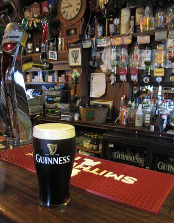 A pint of the black stuff, Egan's of Parkbridge.