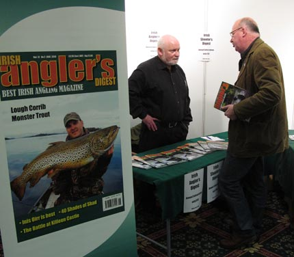 Eric Parkes (on left) editor of Irish Angler's Digest, Ireland's number one rod and line fishing magazine.