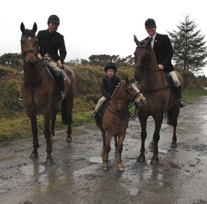 Community spirit epitomised by the Shillelagh Hunt, Co. Wicklow.