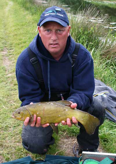 A fine tench from the Grand Canal, Edenderry, Co. Offaly.