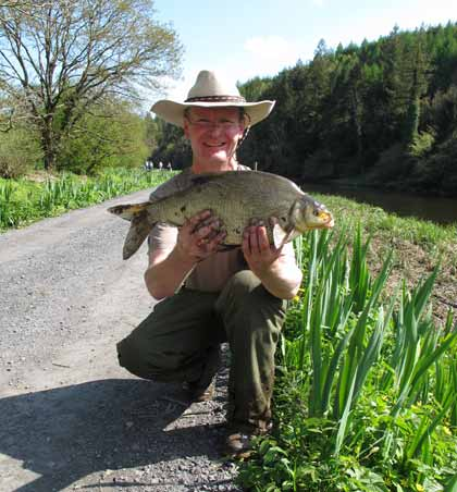 A cracking River Barrow bream from the tidal stretch at St Mullins, Co. Carlow, Ireland.