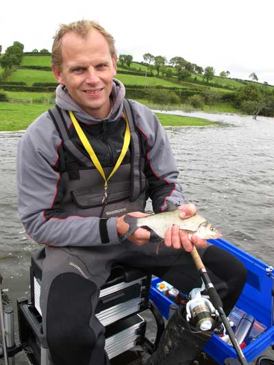 Dutch angler Christiaan Kooloos coarse fishing Lough Muckno.
