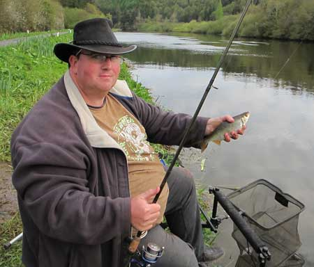Paul McLaughlin with a nice St Mullins roach.