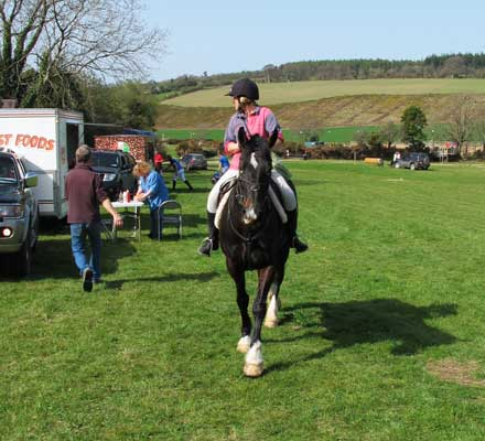TRC chairperson Mandy Hayden riding Dixie, Coolboy, Co. Wicklow.