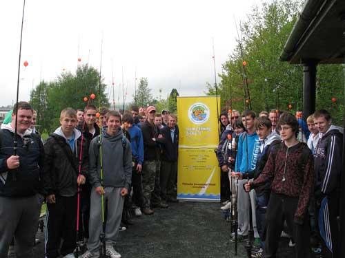 Transition year students from Templeogue College enjoy a day at the Angling for All facility, Aughrim, Co. Wicklow.