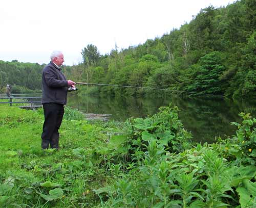 Kevin McCrea an angler with a special passion for large trout.