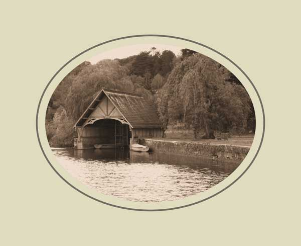 The boat house at Castle Leslie, a famous Monaghan pike venue.