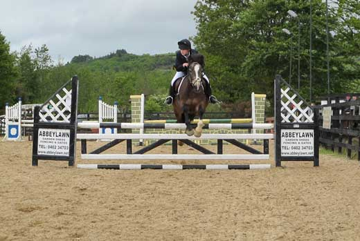 Flying through the jumps at Coolboy, Co. Wicklow.