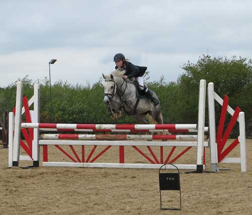 Heading for a clear round, TRC event at Coolboy, Co. Wicklow.