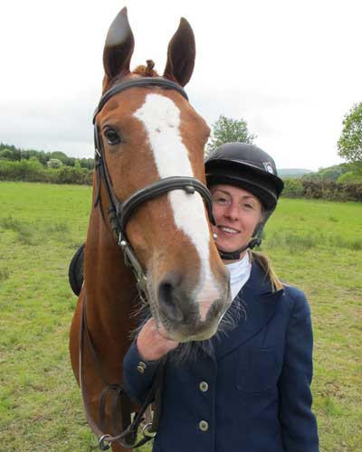 Lorna Rothwell and friend.