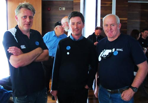 John Daly (Skipper), John Quinlan (Irish Bass), and Johnny Woodlock (SFAG) at the Oceans 2012 event.