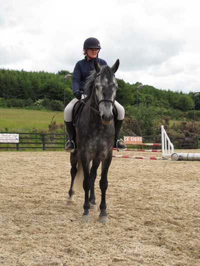 Cluny and Mandy at TRC grounds, Coolboy, Co. Wicklow.