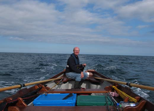 Heading for home, boat fishing off Greystones, Co. Wicklow, Ireland.