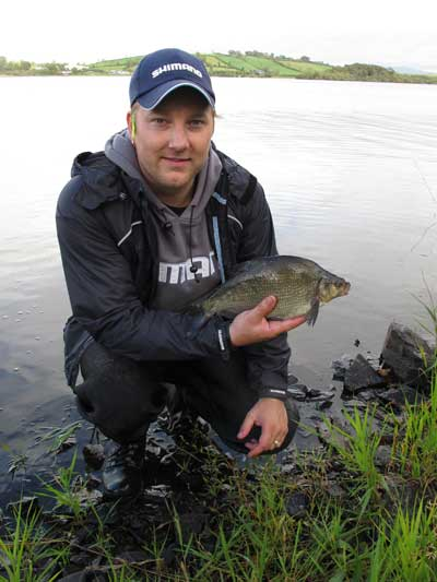 A nice Lough Muckno bream for Shimano Holland marketing executive Chris.