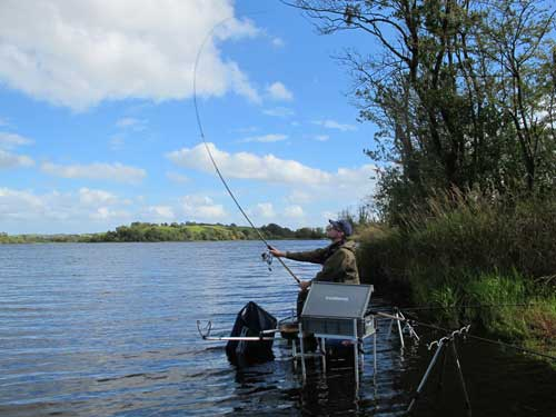 Dutch coarse angler Henk De Graaf fishing Lough Muckno, Co. Monaghan, Ireland.
