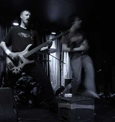 Dave Murphy (bass) and AeSect vocalist Shane Kiernan.