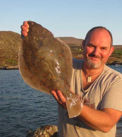 A three pound nine ounce shore caught plaice, wonderful.