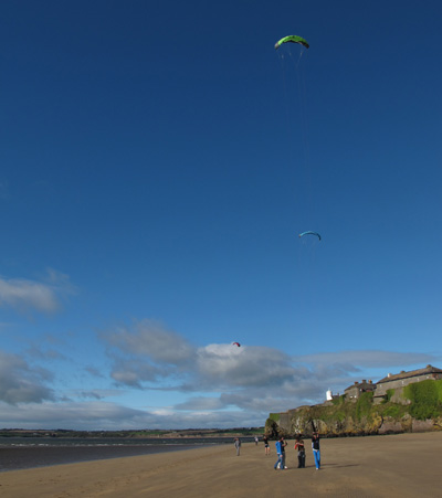 Kite Surfing lesson, Duncannon, Co. Wexford, Ireland.