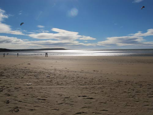 Duncannon Strand looking south east towards Hook Head, Co. Wexford, Ireland.