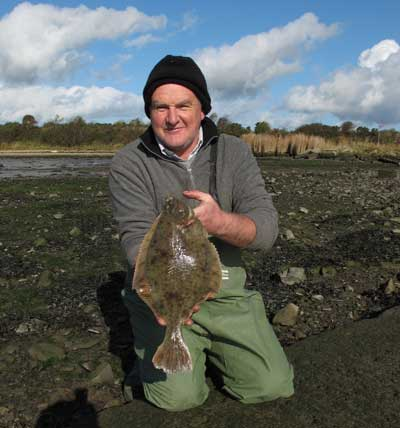 Pat Murphy with a nice estuary flounder.