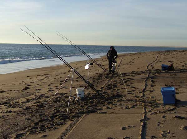 The right set up for successful winter beach fishing.