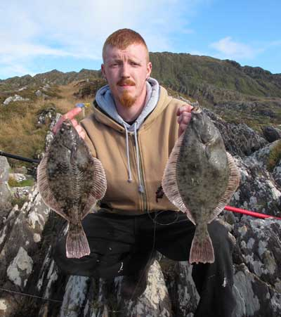 Double flounder for David Murphy on his first Beara trip.