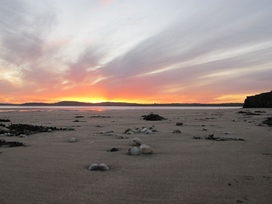 Winter sunset on Duncannon strand, Dec 1st 2011.
