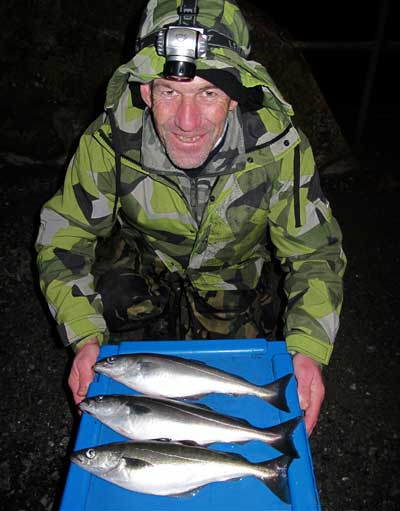 Enniscorthy based angler John Goff with a catch of Waterford estuary coalfish.