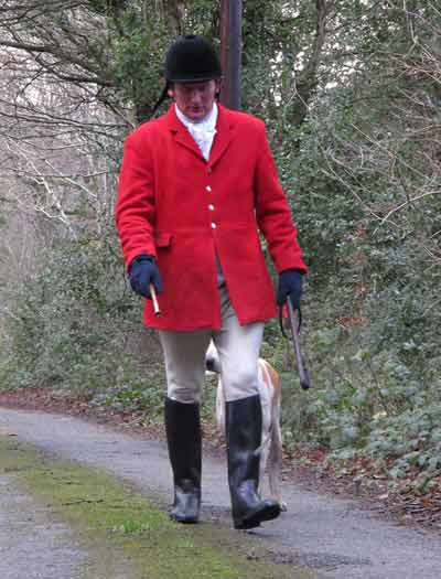 Huntsman and Master of the Hounds David Nolan, Wingfield Hunt, Dec' 2011.