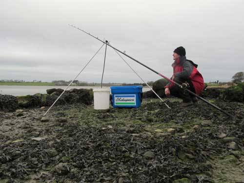 Waiting for a knock, estuary flounder fishing, Co. Wexford, Ireland.