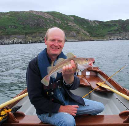 A rare codling taken on hokais off Bray Head Co. Wicklow.