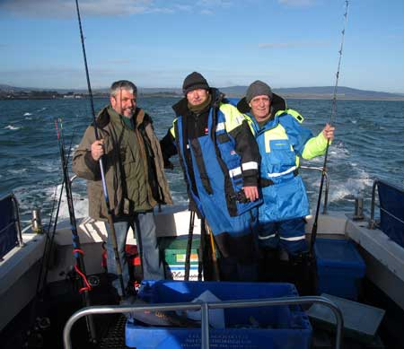 Clients aboard the Wicklow Boat Charters vessel LISIN 1.