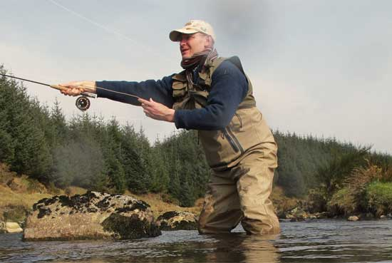 Casting for Wicklow mountain trout in drought conditions.